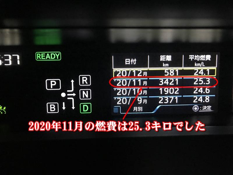 2020年11月の燃費